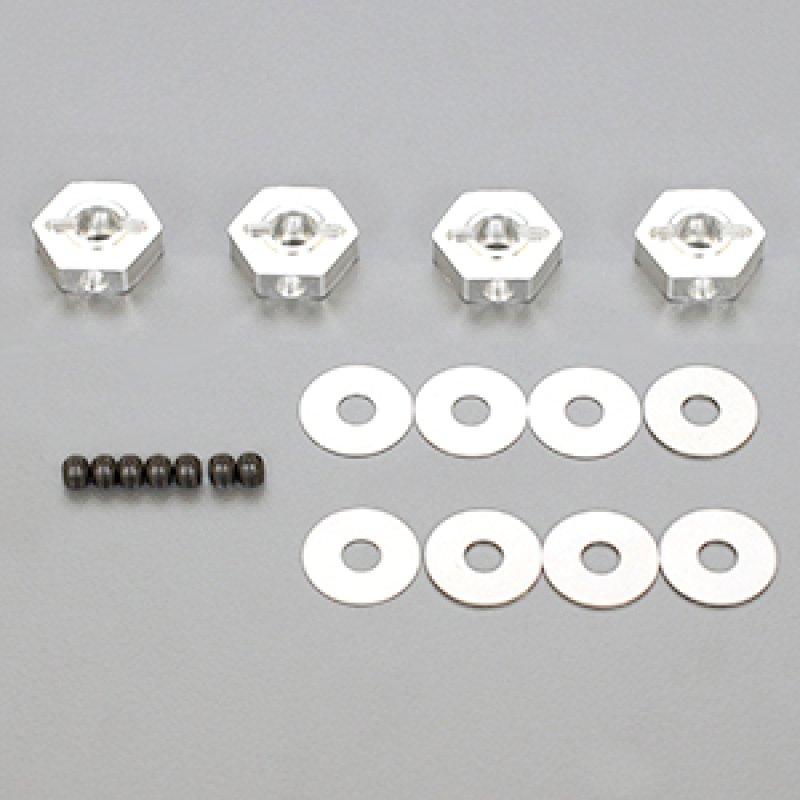 画像1: アルミHEXハブ -0.75mmオフセットハブ&シムセット(4個)[R109046]