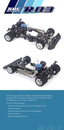 製品補足1: ARC R8.3 1/8GPレーシングキット